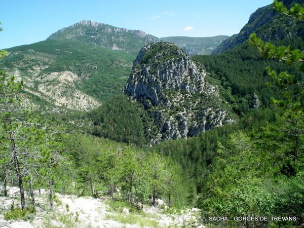 Chapelle St André ( ruines ) gorges de Trévans 04