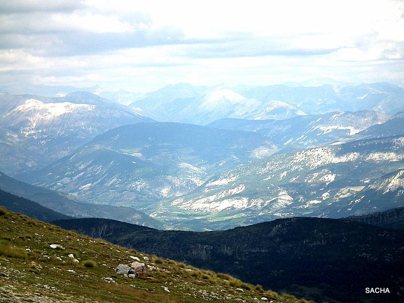 Vue  du Mont Chiran Alpes de Haute Provence