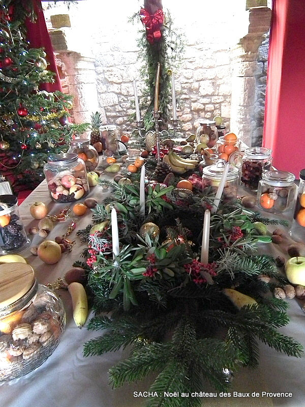 Les treize desserts  Château des Baux de Provence