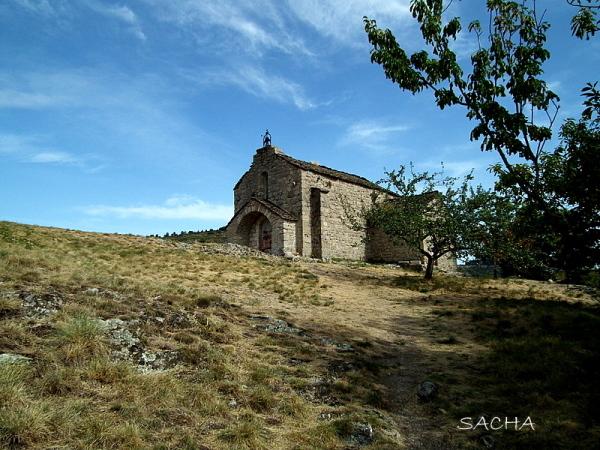 """Chapelle St Loup """" au-dessus du Lac de Villefort """""""