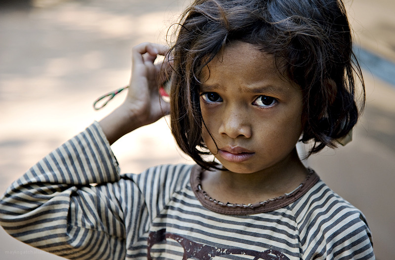 Photo of a girl in Cambodia
