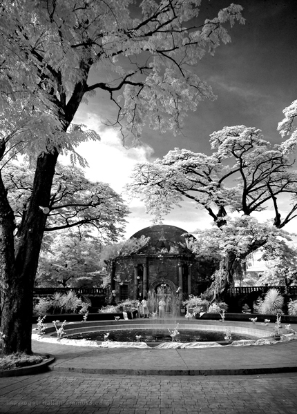 Infrared shot of Paco Park, in Manila, Philippines