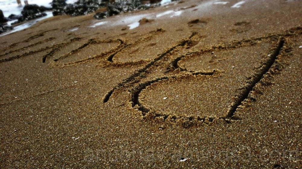 my name engraved on sand