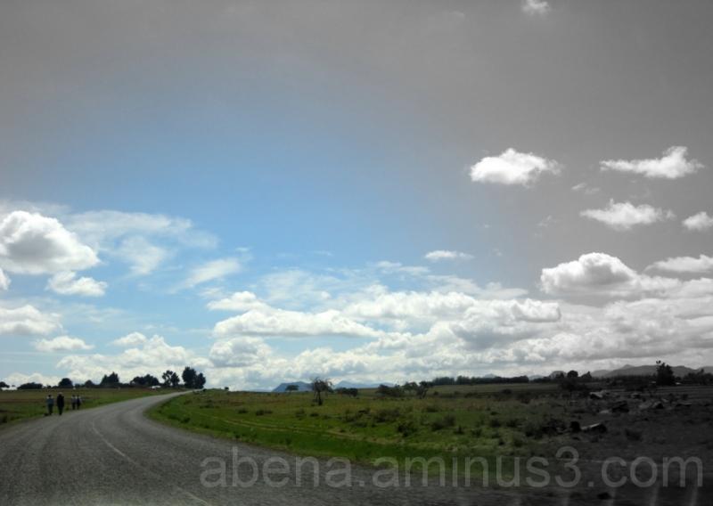 road meets sky