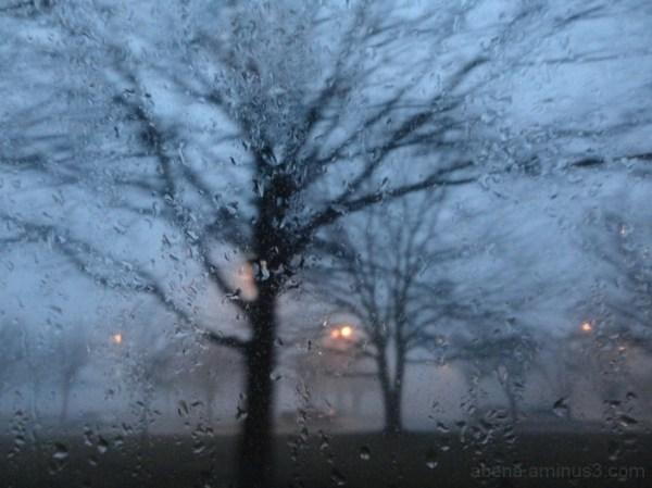 Magnitude of rainy quietude