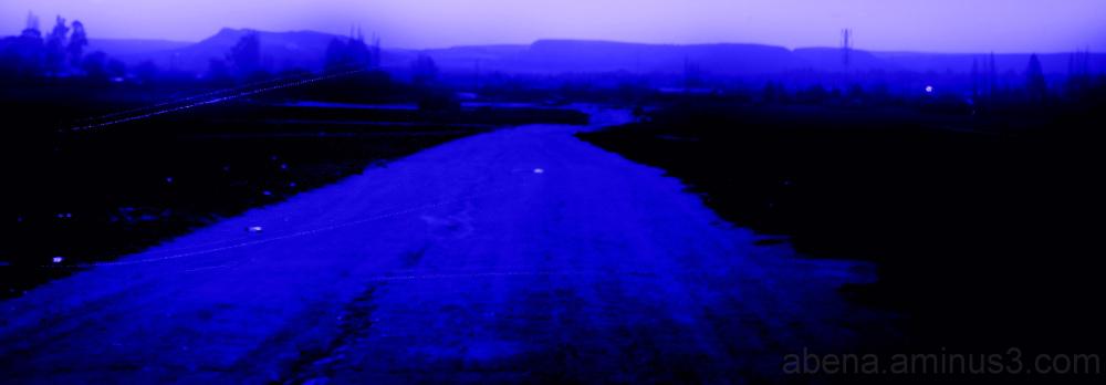 The sky was violet-violent