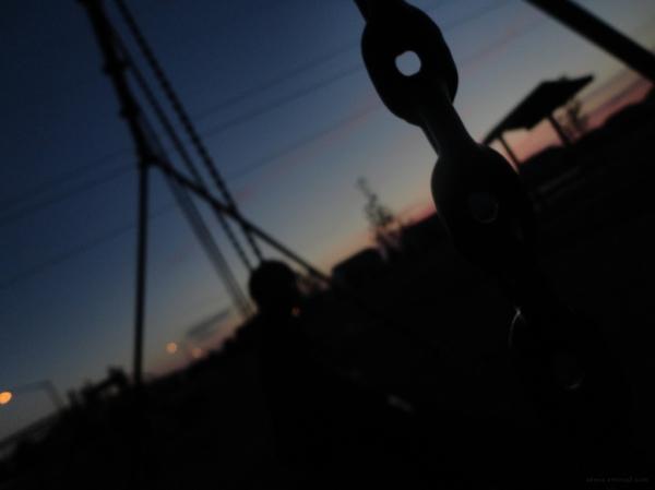 Last summer we sat on swings.