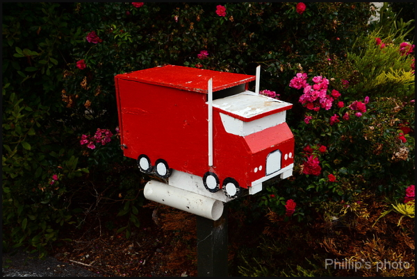 Mail Truck Letter Box