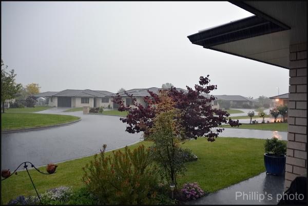 Rain today.