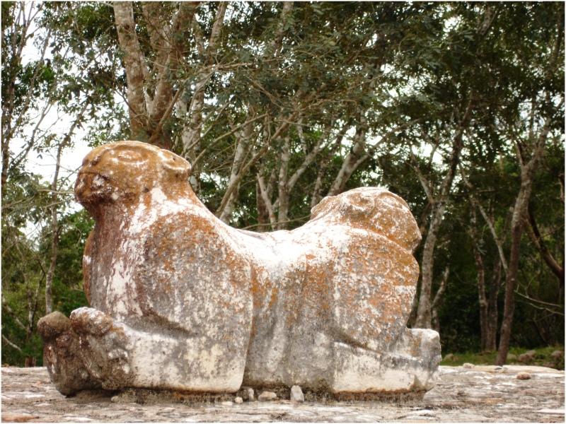 uxmal sacrificial altar