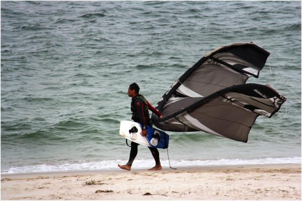 kitesurfer botany bay