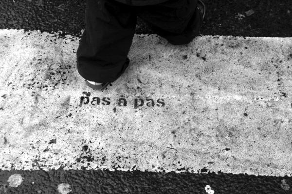 passages-piétons paris noir-blanc enfance