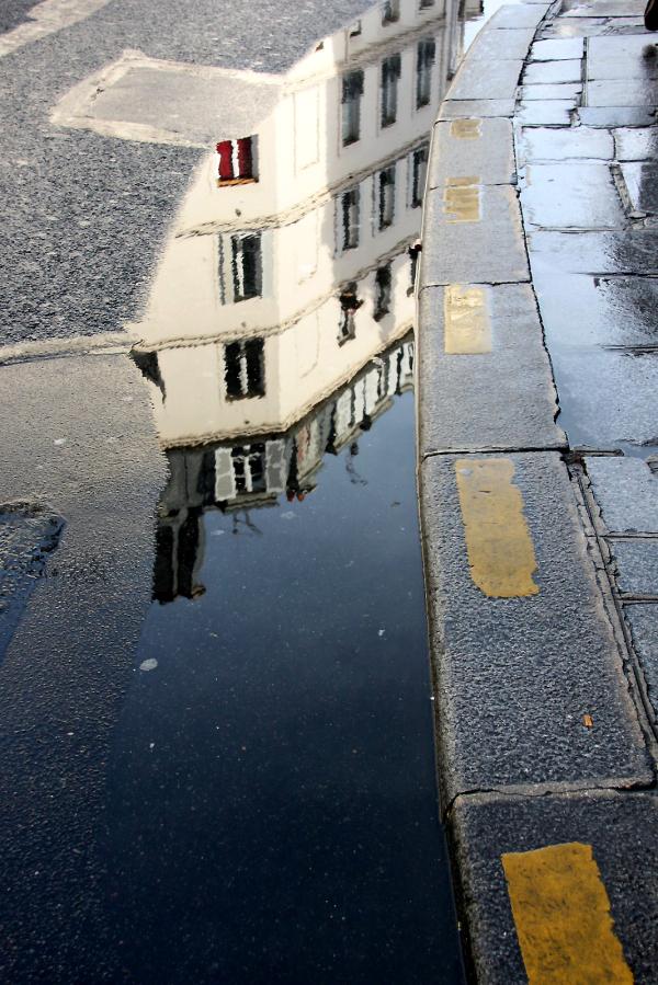reflet paris pluie nuage graphisme