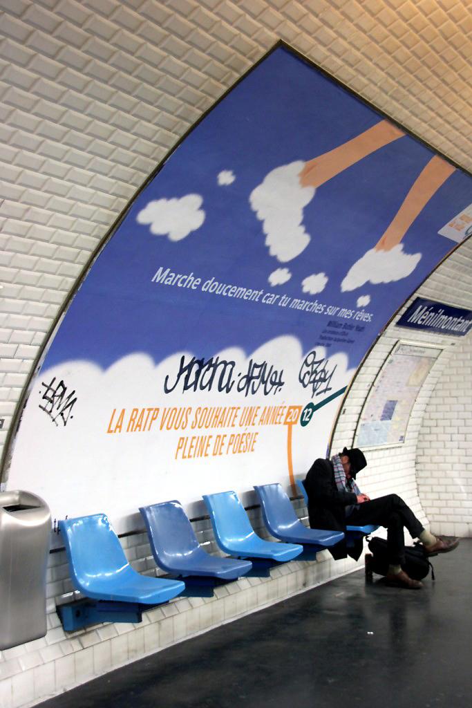 Affiche Paris Métro Message