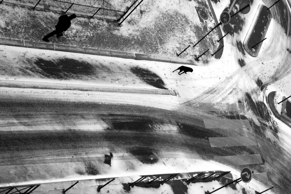 passages-piétons paris noir-blanc graphisme neige
