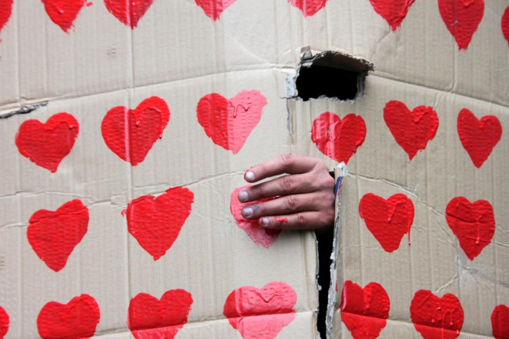 coeur manifestation indignés paris