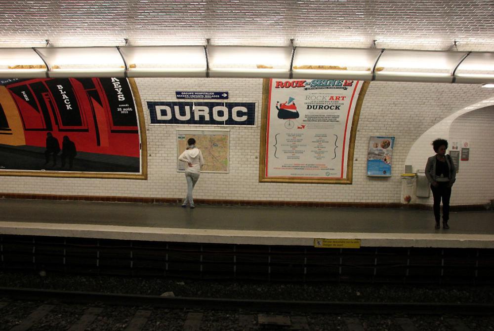 metro quai-metro paris affiche