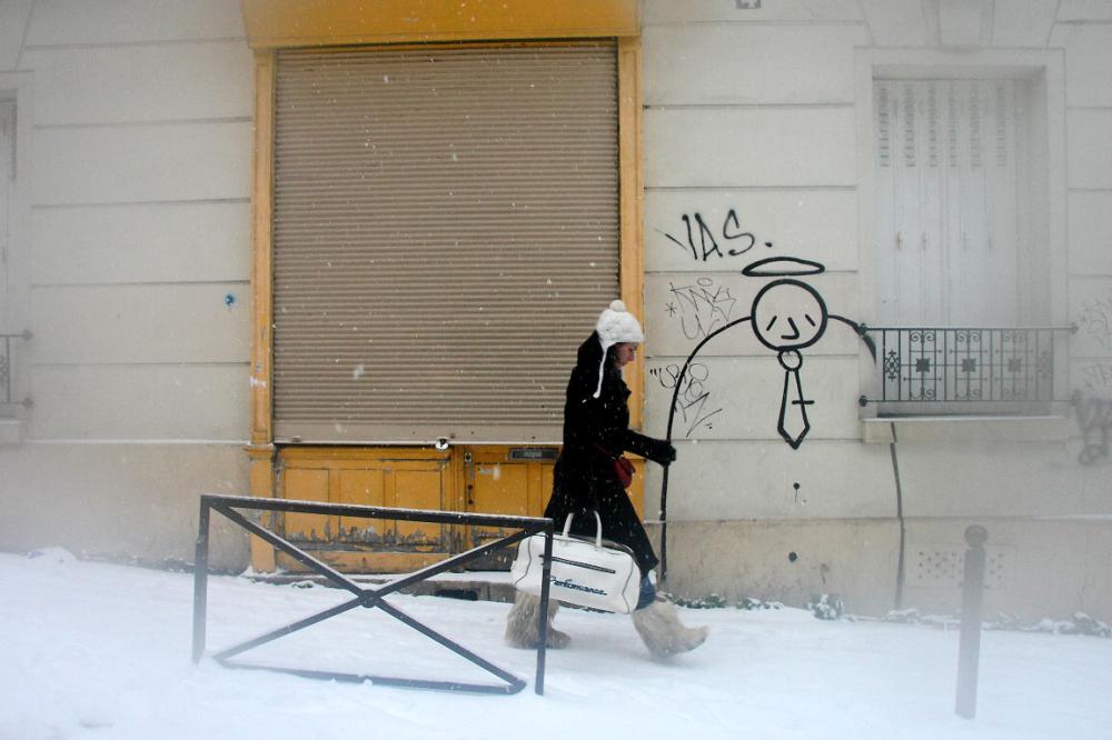paris neige devanture art-urbain
