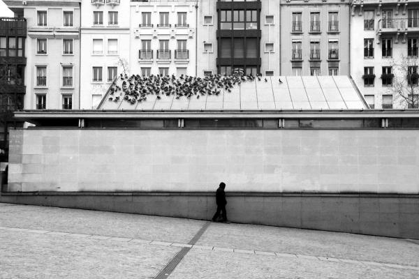 paris noir-blanc Beaubourg