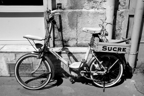 paris vélo noir-blanc