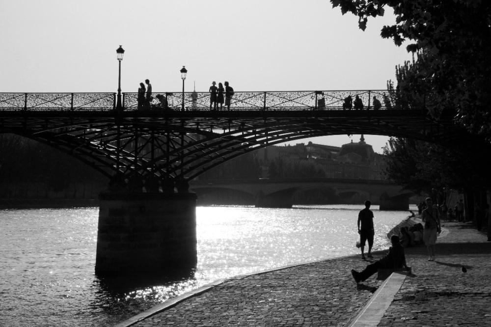 pont-des-arts paris quai-de-seine silhouette ombre