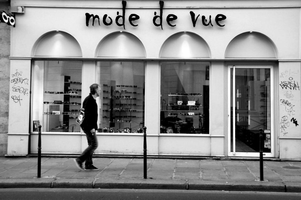 Paris devanture noir-blanc
