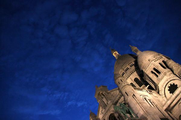 paris nuit nuage sacré-coeur