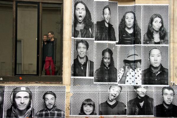 paris collage JR