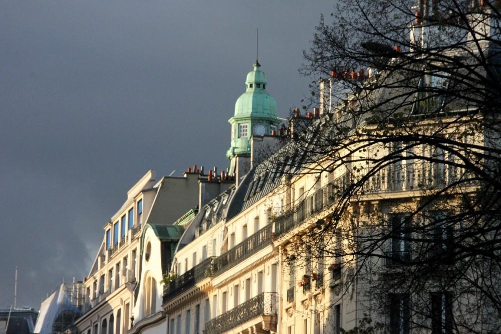 paris architecture toit ciel nuage lumière arbre