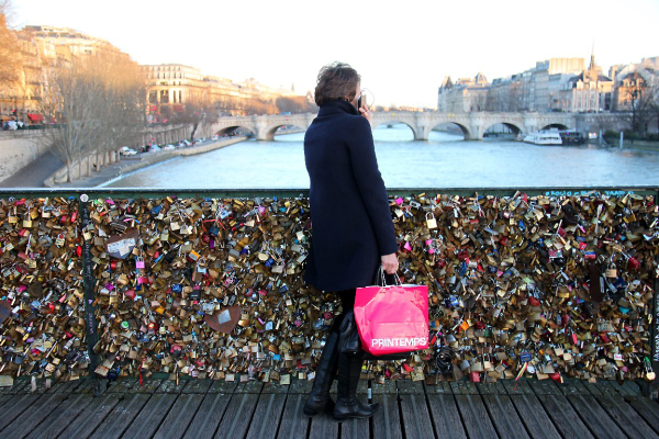 pont-des-arts paris quai-de-seine silhouette