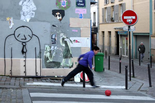 paris Belleville enfance art-urbain rue