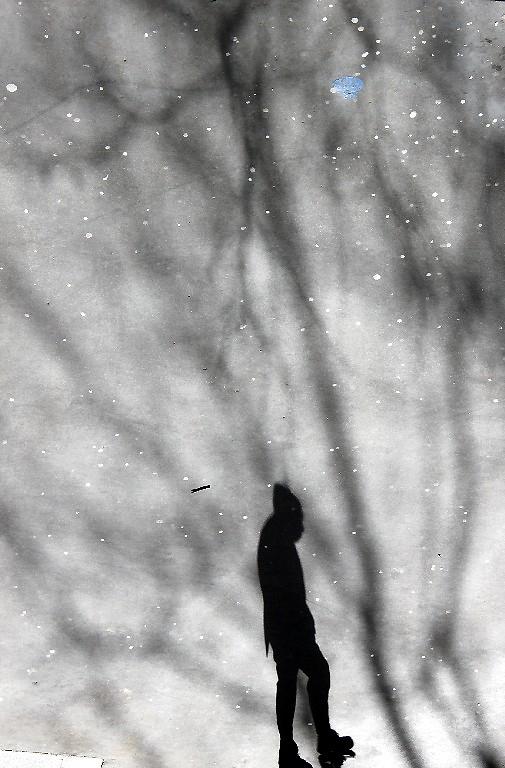 paris silhouette ombre noir-blanc