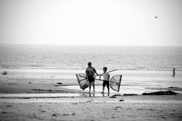 ailleur Normandie plage mer noir-blanc enfance