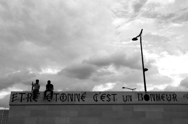 paris noir-blanc message