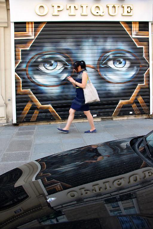paris art-urbain reflet