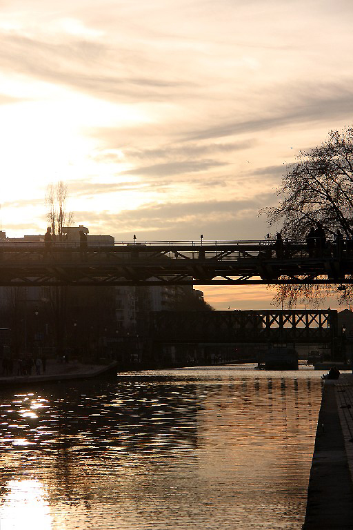 coucher-soleil paris canal