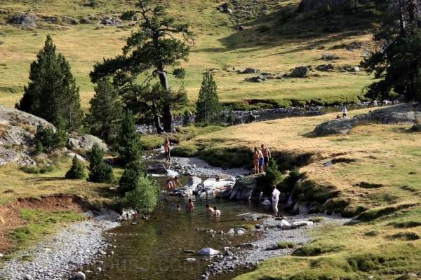 Baño en el rio