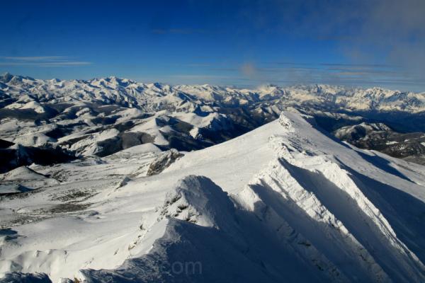 Vistas al oeste desde la cumbre