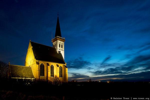 the white church of den hoorn, texel