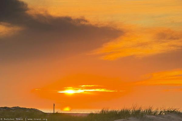 sunset at texel beach