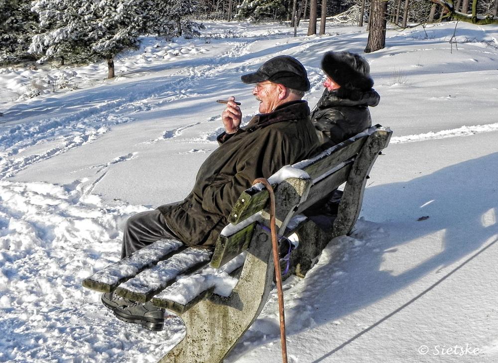 genieten van het winterweer