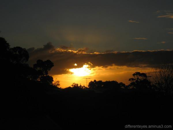 Winter sunset on the Mornington Peninsula
