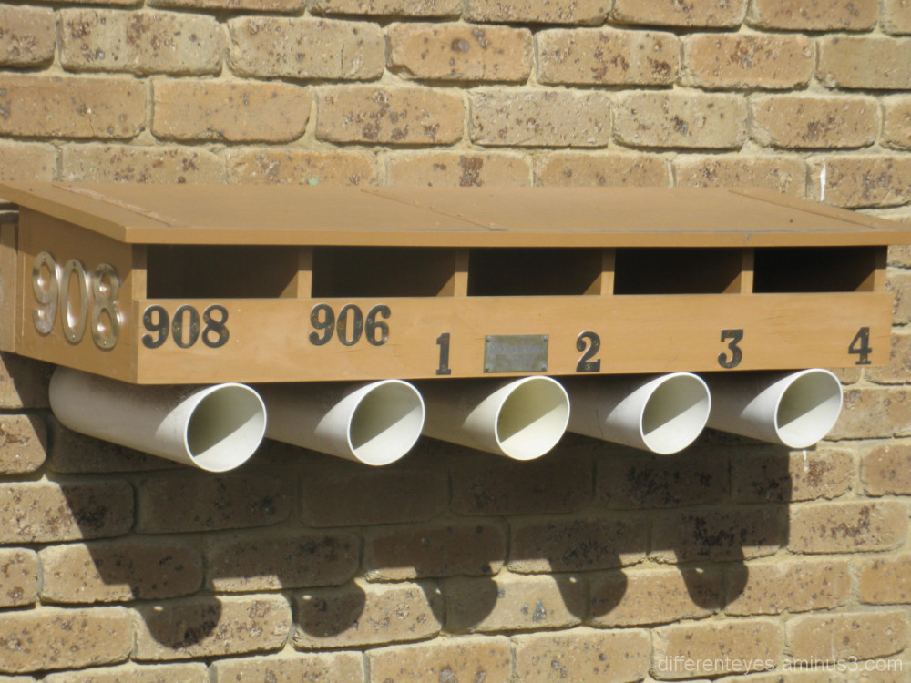 Mailboxes for units at Rosebud