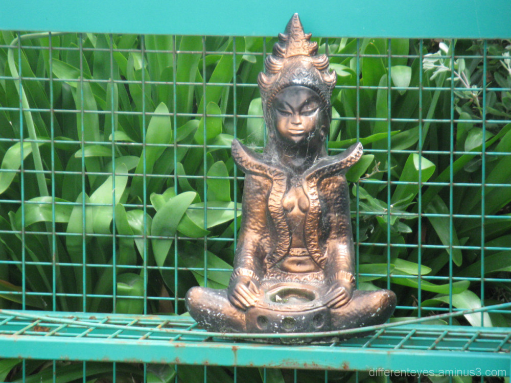 Unusual figurine at Tyabb Art and Craft Village