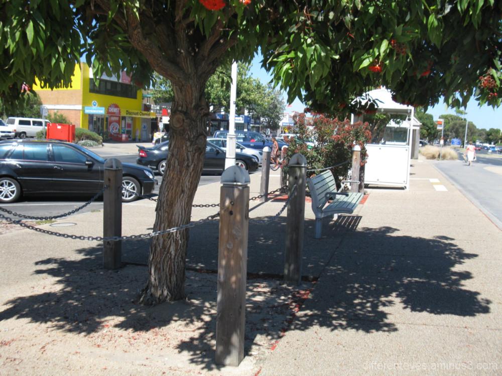 shadowy street view in Rosebud