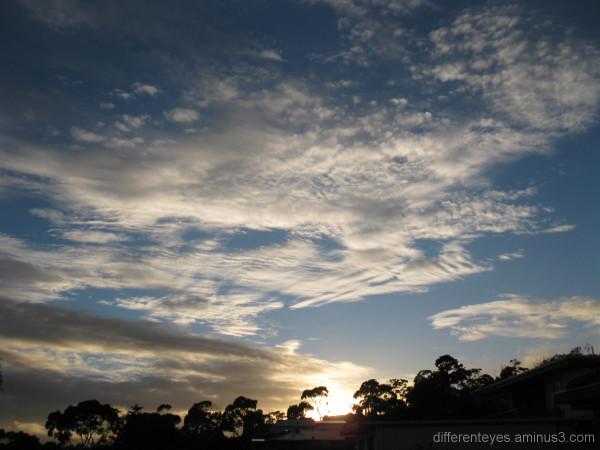 Summer skies over Dromana