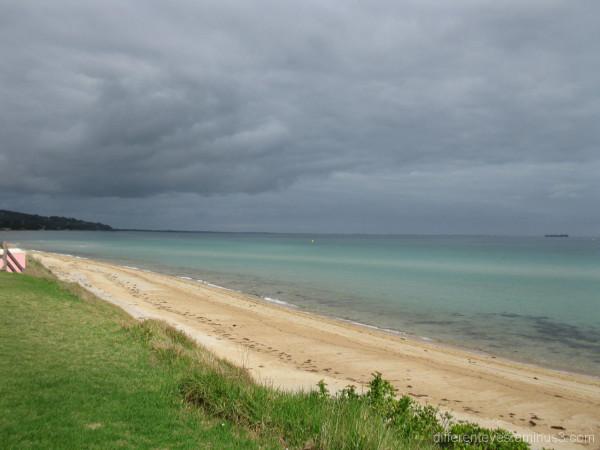 Safety Beach on a cloudy Autumn morning