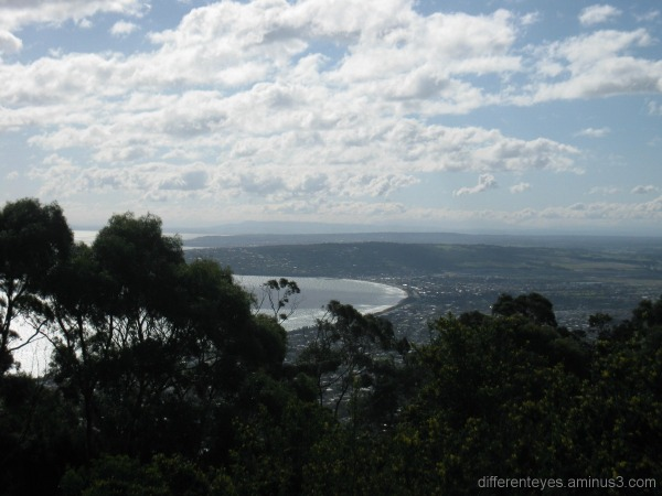 Port Phillip Bay coastline view from Arthurs Seat