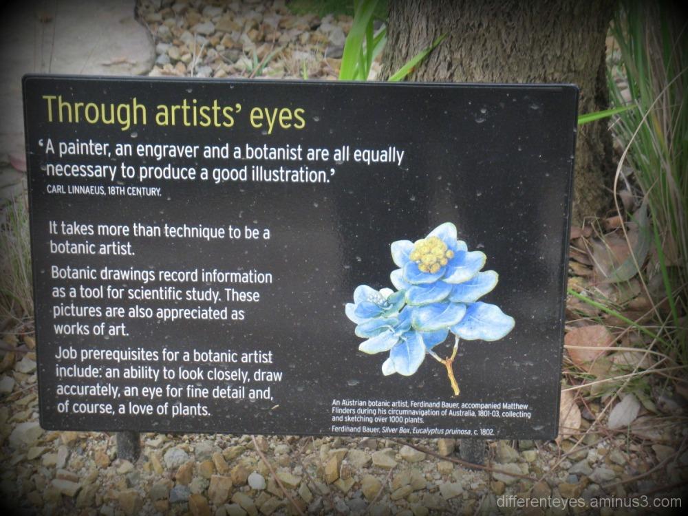 sign explaining the art of a botanist
