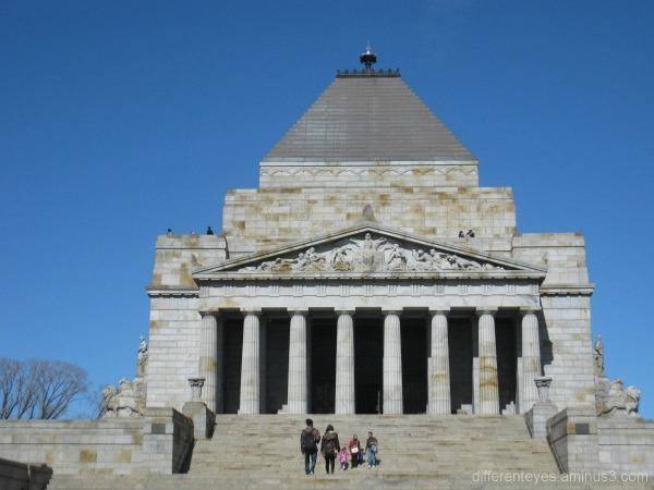 Melbourne shrine's front view